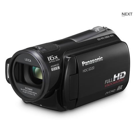 Panasonic a lansat cele mai usoare camere video HD din lume